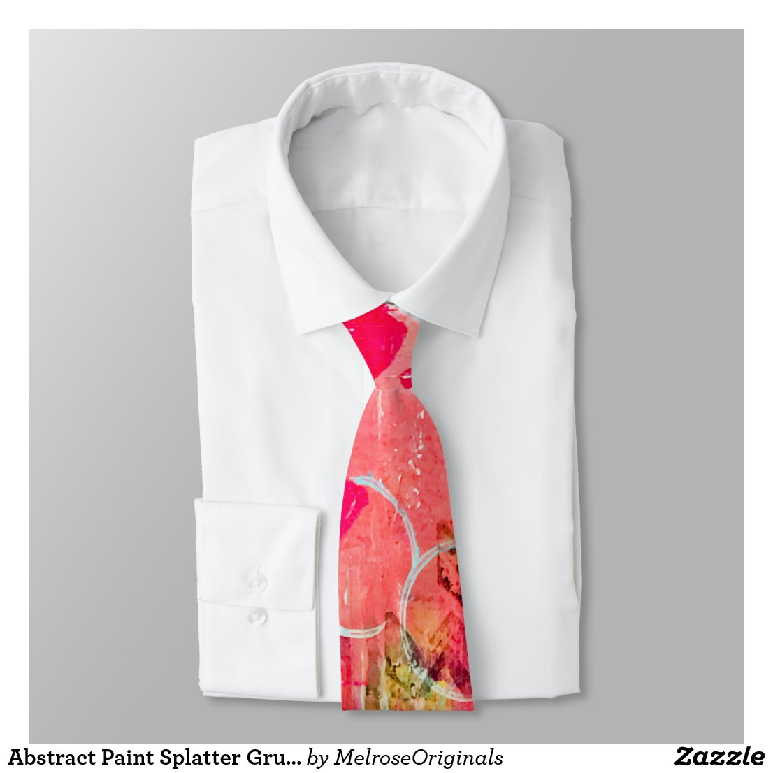Abstract Paint Splatter Grunge Artsy Cool Novelty Tie