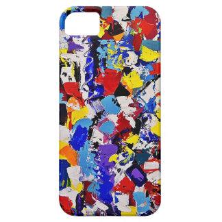 Abstract Paint Splatters Barely There iPhone 5 Case