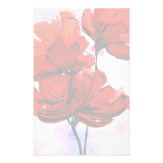 Abstract painted floral background 2 customized stationery