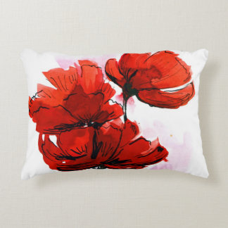 Abstract painted floral background 2 decorative cushion