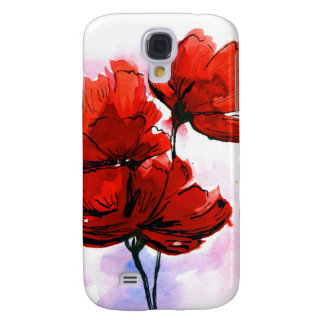 Abstract painted floral background 2 galaxy s4 case