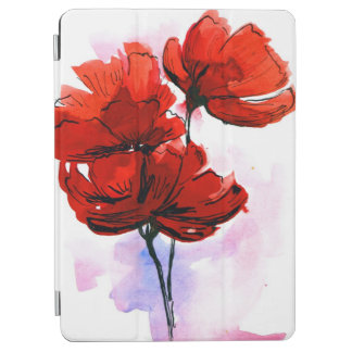 Abstract painted floral background 2 iPad air cover