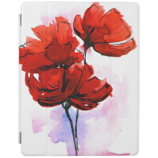 Abstract painted floral background 2 iPad cover