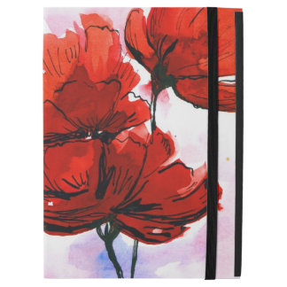 "Abstract painted floral background 2 iPad pro 12.9"" case"