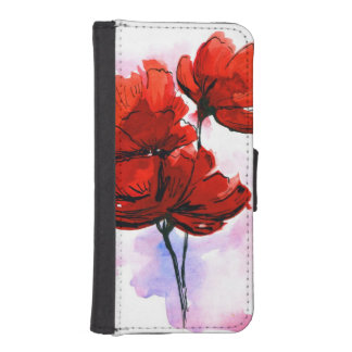 Abstract painted floral background 2 iPhone SE/5/5s wallet case