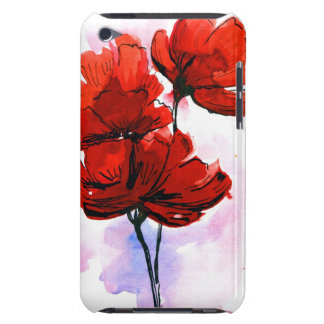 Abstract painted floral background 2 iPod Case-Mate case