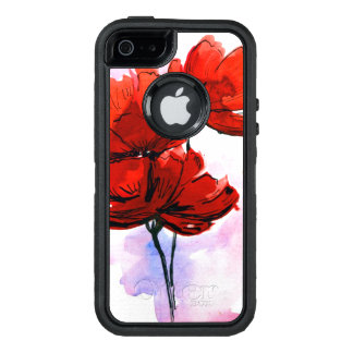 Abstract painted floral background 2 OtterBox iPhone 5/5s/SE case