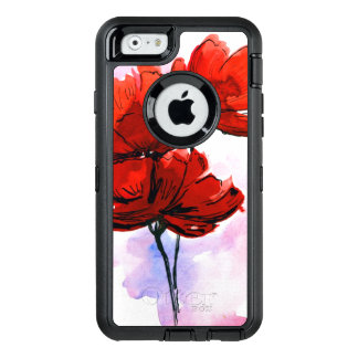 Abstract painted floral background 2 OtterBox iPhone 6/6s case