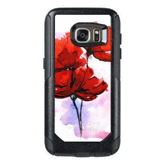 Abstract painted floral background 2 OtterBox samsung galaxy s7 case