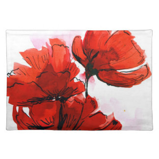 Abstract painted floral background 2 placemat
