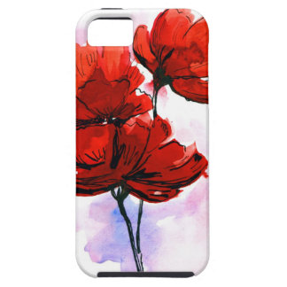 Abstract painted floral background 2 tough iPhone 5 case