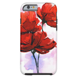 Abstract painted floral background 2 tough iPhone 6 case