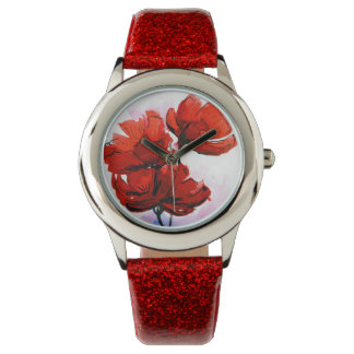 Abstract painted floral background 2 watch