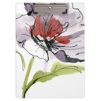 Abstract painted floral background 3 clipboard