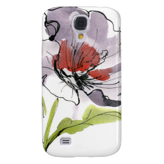 Abstract painted floral background 3 galaxy s4 case