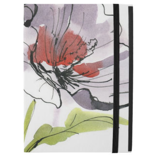 "Abstract painted floral background 3 iPad pro 12.9"" case"