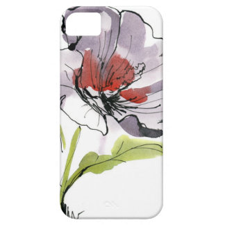 Abstract painted floral background 3 iPhone 5 cases