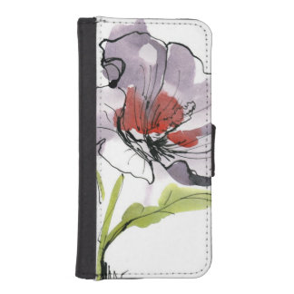 Abstract painted floral background 3 iPhone SE/5/5s wallet case