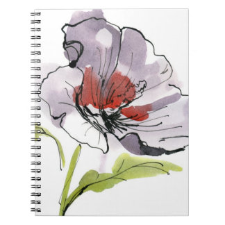 Abstract painted floral background 3 notebook