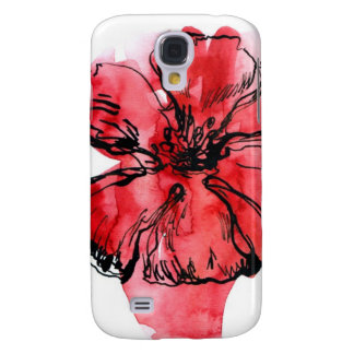 Abstract painted floral background 4 galaxy s4 case
