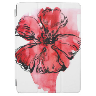 Abstract painted floral background 4 iPad air cover