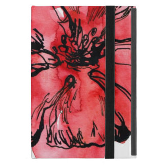 Abstract painted floral background 4 iPad mini covers