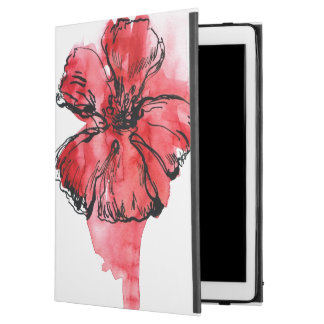 "Abstract painted floral background 4 iPad pro 12.9"" case"