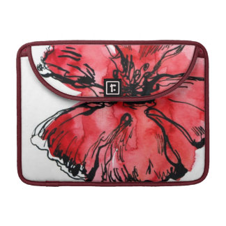 Abstract painted floral background 4 sleeve for MacBooks