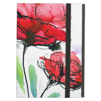 Abstract painted floral background iPad air cases