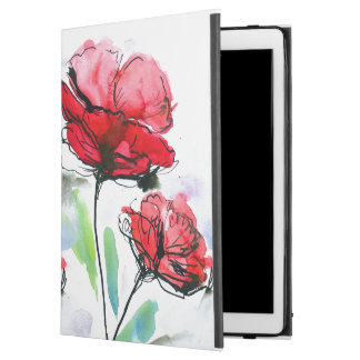 "Abstract painted floral background iPad pro 12.9"" case"