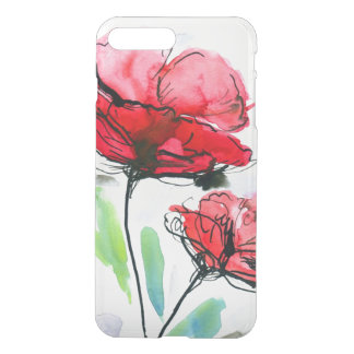 Abstract painted floral background iPhone 8 plus/7 plus case