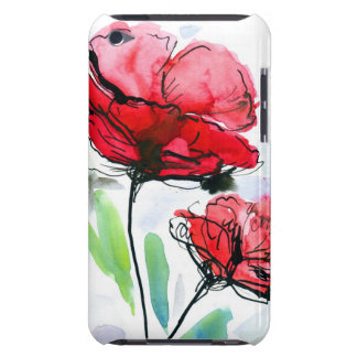 Abstract painted floral background iPod touch cover