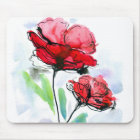 Abstract painted floral background mouse mat
