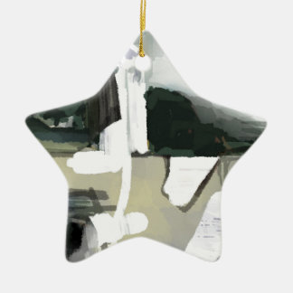 Abstract painted landscape SIRAdesign Christmas Ornament