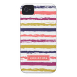 Abstract Painted Stripes Monogram