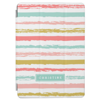 Abstract Painted Stripes Monogram iPad Air Cover