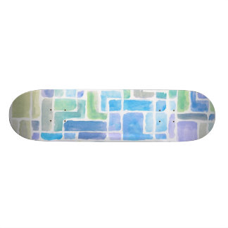 Abstract painted watercolor background. 19.7 cm skateboard deck