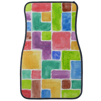 Abstract painted watercolor background. 2 floor mat