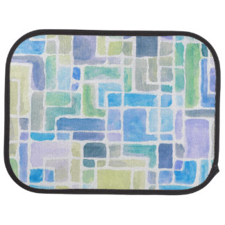 Abstract painted watercolor background. car mat