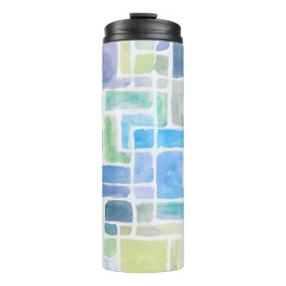 Abstract painted watercolor background. thermal tumbler