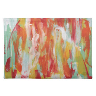 Abstract Painting 64 Sun Shower Placemats