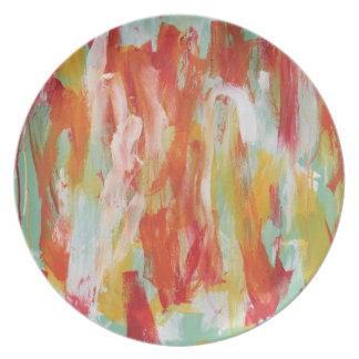Abstract Painting 64 Sun Shower Plate