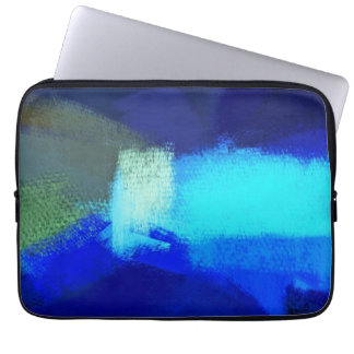 Abstract Painting | Blue Abstract Art 3 Laptop Sleeve