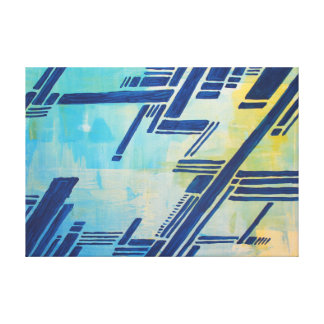 abstract painting - blue canvas print