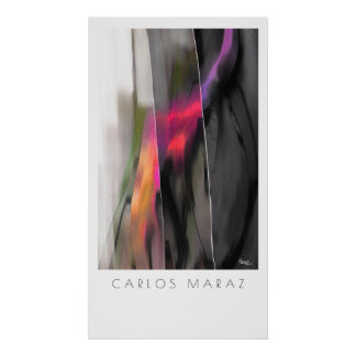 Abstract Painting by Carlos Maraz Art Print