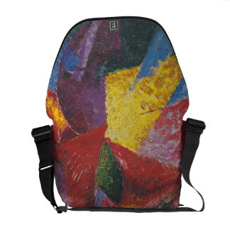 Abstract painting by Umberto Boccioni Messenger Bag