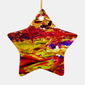 Abstract Painting Ceramic Star Decoration