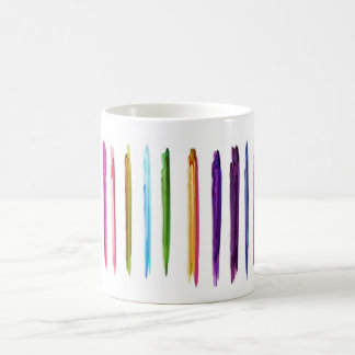 Abstract Painting | Colorful Paint Brush Strokes Coffee Mug