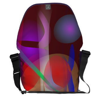 Abstract Painting Dark Brown Messenger Bags