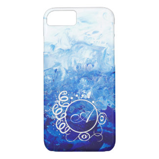 Abstract Painting iPhone 7 case with Monogram